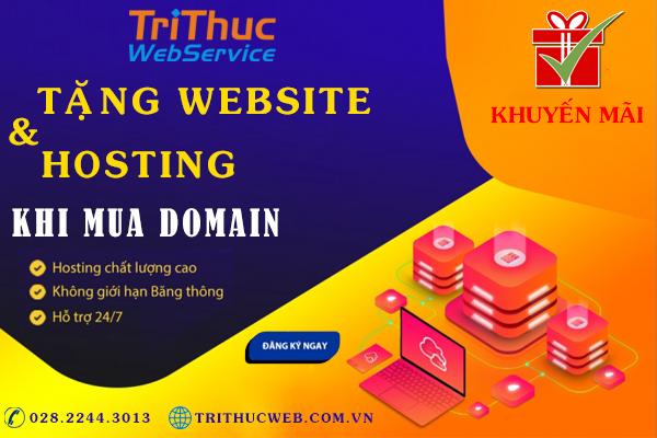 Khuyến Mãi Mua Domain Tặng Website & Hosting