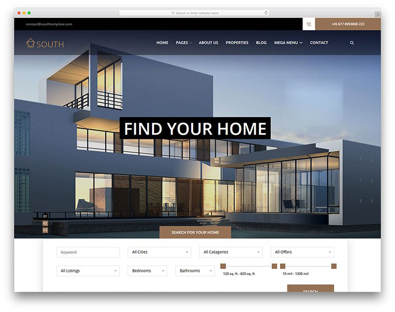 Website bất động sản - South