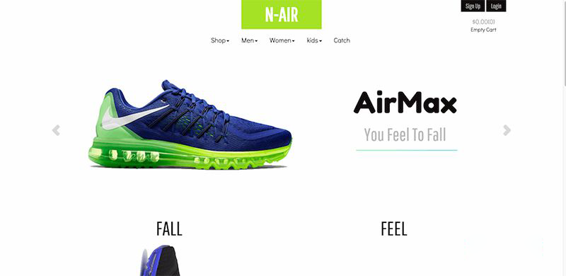 Website thời trang N-Air