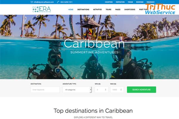 Mẫu thiết kế website du lịch Đẹp Độc – Chuẩn SEO