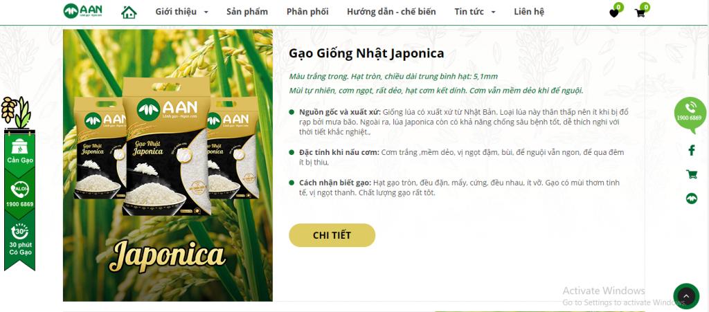 Lợi ích của việc thiết kế website bán gạo chất lượng