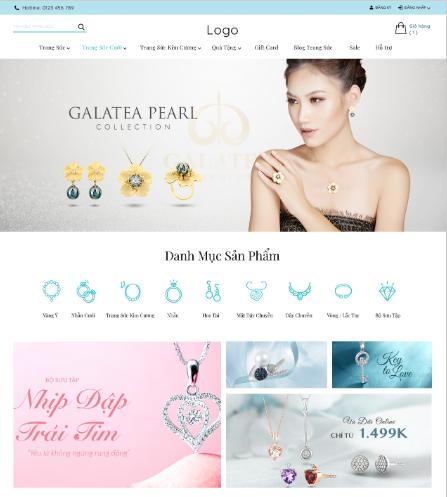 Mẫu website bán vàng bạc đá quý 03