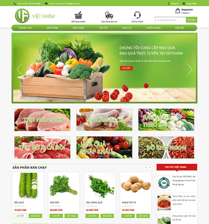website bán nông sản